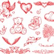 Valentine's day items — Stock Vector #6777806