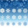Royalty-Free Stock Vectorafbeeldingen: Snowflakes collection design