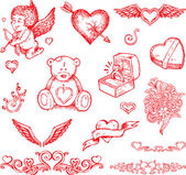 Valentine's day items — Stock Vector