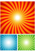 Abstract sunray background — Stock Vector