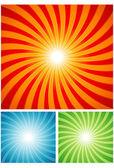 Fond abstrait sunray — Vecteur