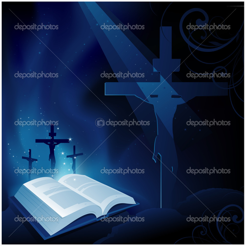 Bible religion background — Stock Vector #6777840