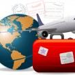 Stock Photo: Travel concept background