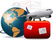 Travel concept background — Stock Photo
