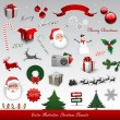Christmas design elements — Stock Vector #7371107