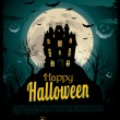 Halloween background — Vector de stock  #7409113