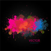 Colorful paint splats background — Stock Vector
