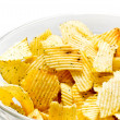 Bowl with chips — Stock Photo