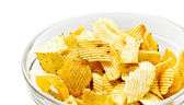Tigela com chips — Foto Stock