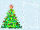 ベクトル イラスト、クリスマスのモミの木 — ストックベクタ