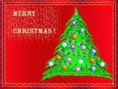 Vector Christmas card; — Stock Vector