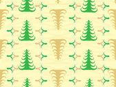 Vektorové bezešvé vánoční vzorek srsti stromy — Stock vektor