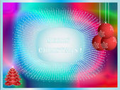 Vector Christmas abstract card — Stock Vector