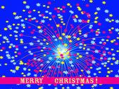 Vector illustration: Christmas fireworks — Stock Vector