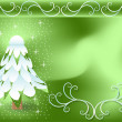 Vector Illustration: winter Christmas tree — Image vectorielle