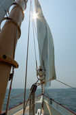 Views of the private sail yacht. — 图库照片