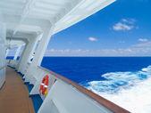 Cruise ship in the Caribbean Sea. — Stock Photo