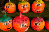 Decorated pumpkins at the farmer market. — Stockfoto