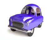 Funny Blue Cartoon Car — Stock Photo