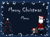 Merry Christmas - meow — Stock Vector