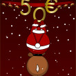 Merry Christmas - 50 - gift certificate — Stock Photo