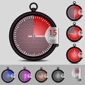 Vector set of timer for your design — Stock Vector
