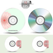 Set of disks for your design.Vector illustration — Stock Vector