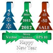 Sada prvků veselé vánoce pro svůj design. vektorové ilustrace — Stock vektor