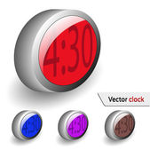 Vector clock for your design — Stock Vector