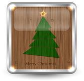 Veselé vánoční podepsat pro svůj design. vektorové ilustrace — Stock vektor