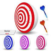 Vector dart voor uw ontwerp — Stockvector