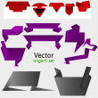 Royalty-Free Stock Vector Image: Vector origami paper for your design