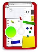 Vector clipboard set for your design — Stock Vector