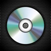Vecteur cd sur une plaque métallique pour votre conception — Vecteur