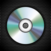 Vector CD on metal plate for your design — 图库矢量图片
