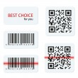 Vector barcode and qr code for your design — Stock Vector