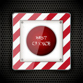Tlačítko spustit pro svůj design. vektorové ilustrace. nejlepší volba — Stock vektor