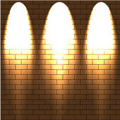 Lighted a brick wall. Vector illustration.Best choice — Stock Vector