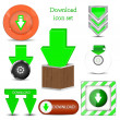 Vector download icon set. Best choice — Stock Vector