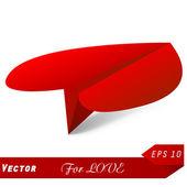 Vektor-konzept des flugzeuges herz und origami. beste wahl — Stockvektor