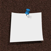 Note paper with pin on cork board. vector illustration. Best choice — Stock Vector