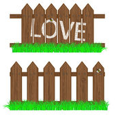 あなたのデザインのための草のベクトル フェンス — ストックベクタ