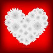 花の背景ベクトル創造的な心 — ストックベクタ