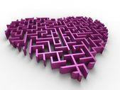 Heart of maze — Stock Photo