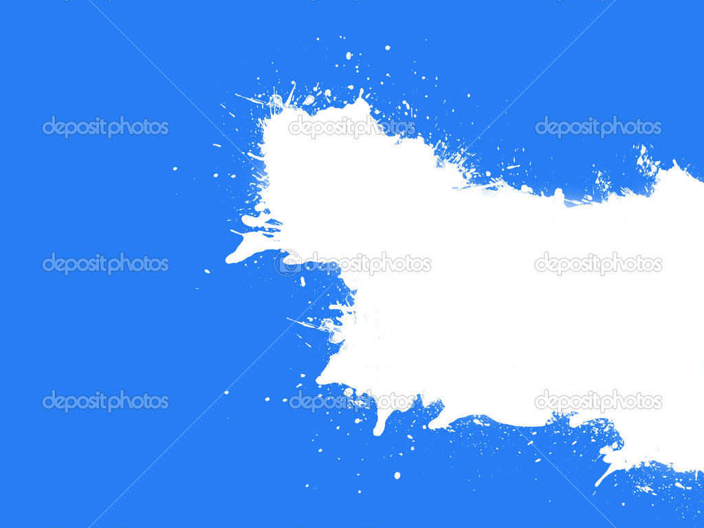 Illustration of milk stain effect on a blue background — Stock Photo #6835580