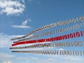 волна битов цифровых данных — Стоковое фото