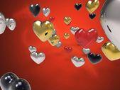 Fields of hearts — Stock Photo