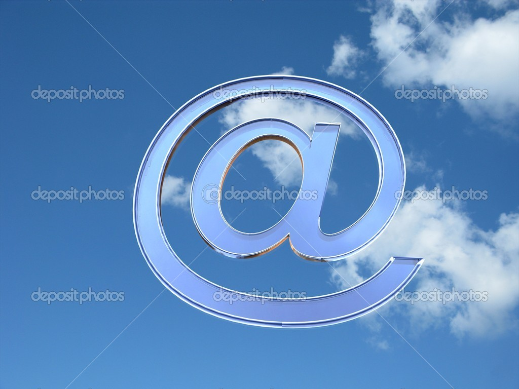 3d illustration of the blue glass at symbol in sky — Stock Photo #6855600