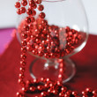 Stock Photo: Goblet with red beads