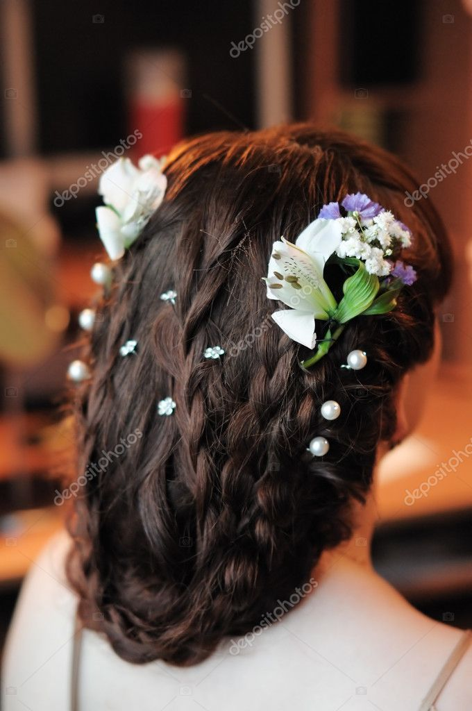 Beauty wedding hairstyle rear view  Stock Photo #6829360